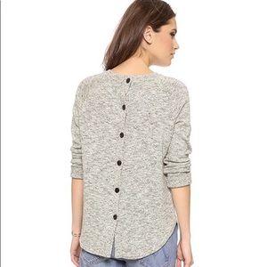 Madewell Linen Cotton Button back Sweater